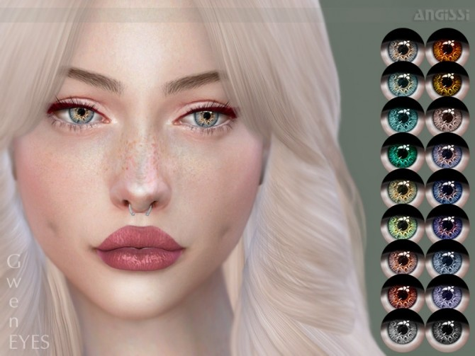 Sims 4 Gwen eyes by ANGISSI at TSR