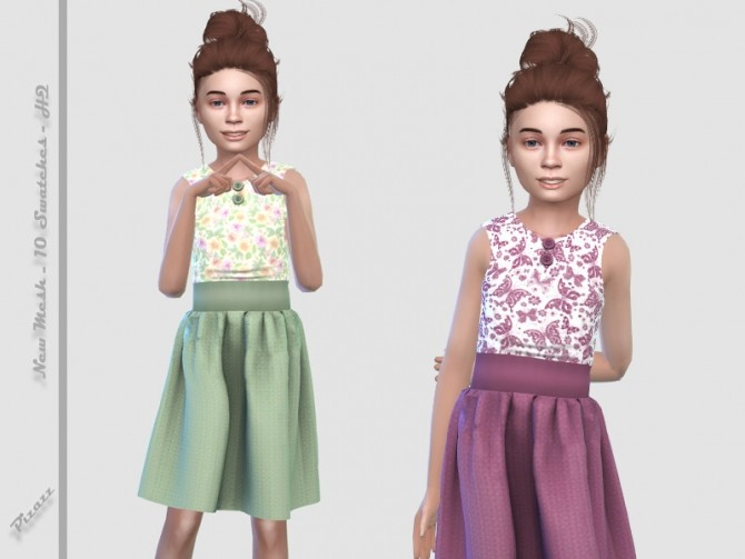Sims 4 Spring Dress by pizazz at TSR