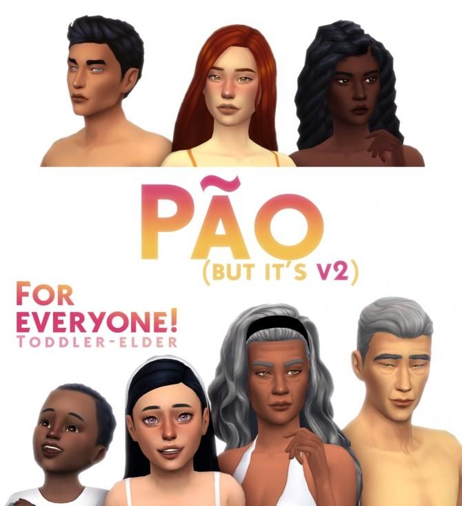 Sims 4 PAO V2 skinblend + Geleia blush at Simandy