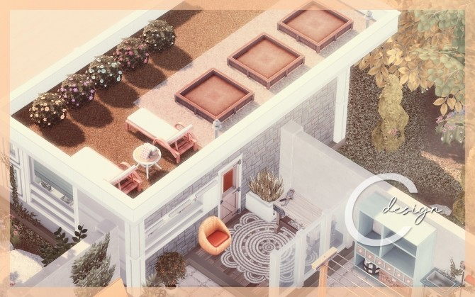 Sims 4 Bebe home by Praline at Cross Design