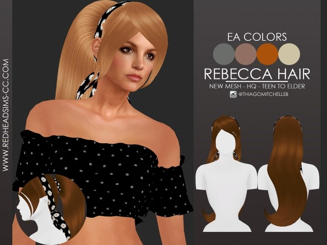REBECCA HAIR by Thiago Mitchell at REDHEADSIMS image 13921 670x503 Sims 4 Updates