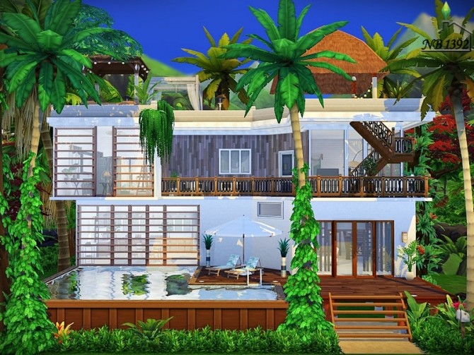 Sims 4 Tropical Haven small house by nobody1392 at TSR
