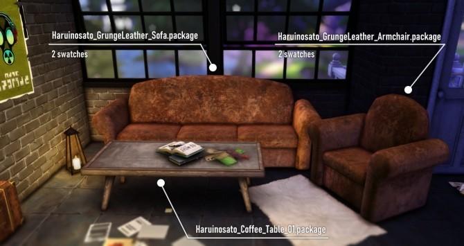 Grunge Leather Sofa & Coffee Table at Haruinosato's CC image 14020 670x355 Sims 4 Updates