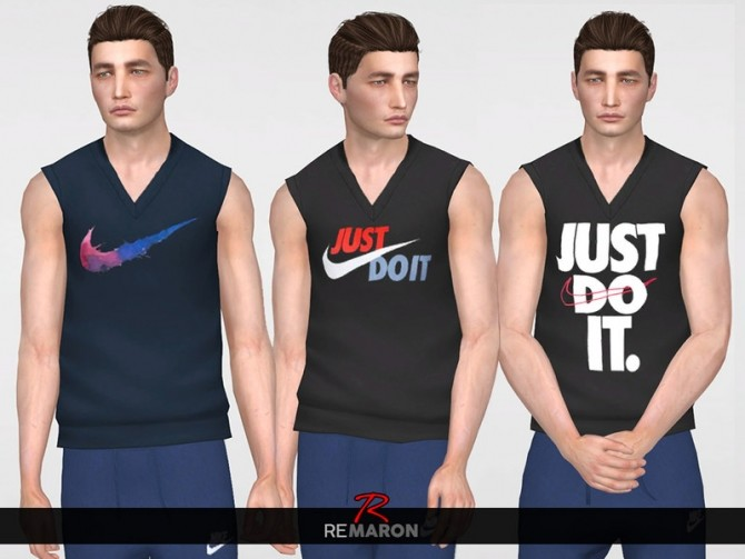 N. Tank Top for men by remaron at TSR image 14104 670x503 Sims 4 Updates