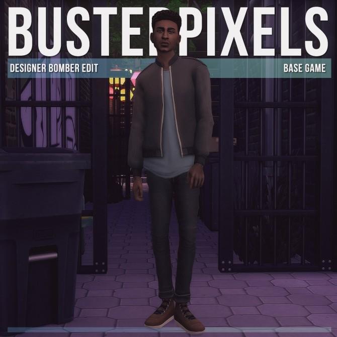 Sims 4 Designer Bomber Jacket Edit at Busted Pixels