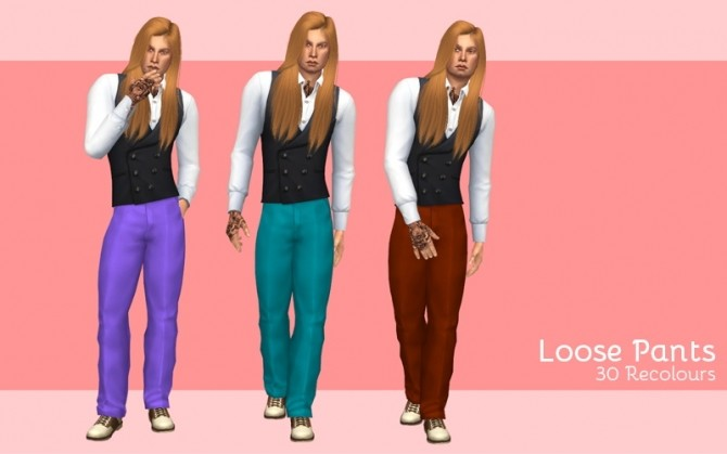 Loose pants at Midnightskysims image 14120 670x419 Sims 4 Updates