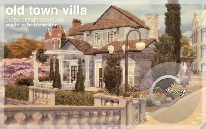 Sims 4 Old Town Villa by Praline at Cross Design