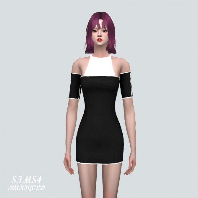 Off Shoulder Mini Dress at Marigold image 1421 670x670 Sims 4 Updates