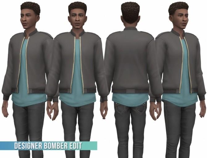 Designer Bomber Jacket Edit at Busted Pixels image 14216 670x513 Sims 4 Updates