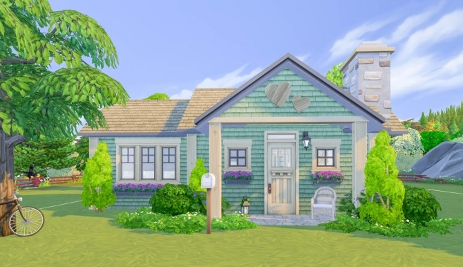 The Compact Craftsman house at SimPlistic image 14311 670x386 Sims 4 Updates