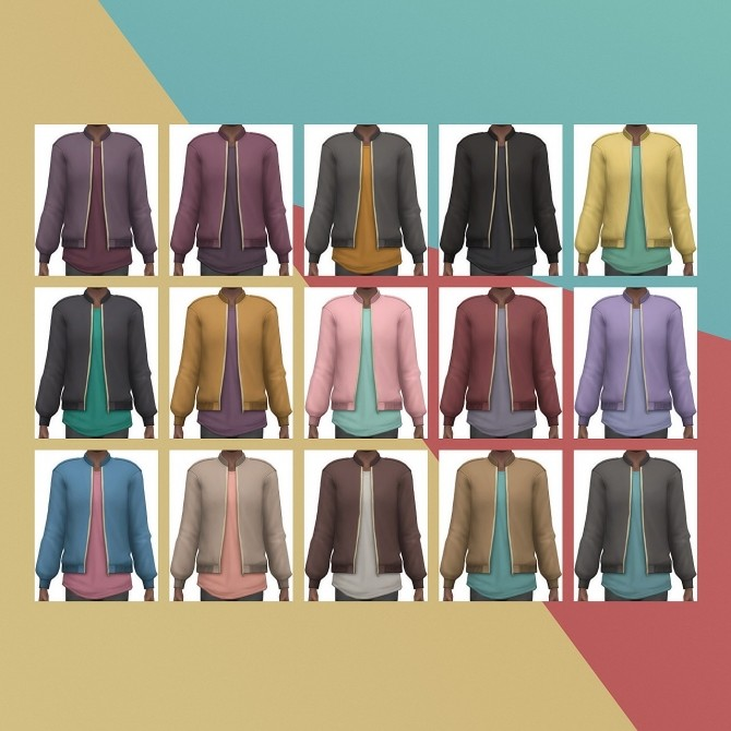 Designer Bomber Jacket Edit at Busted Pixels image 14314 670x670 Sims 4 Updates