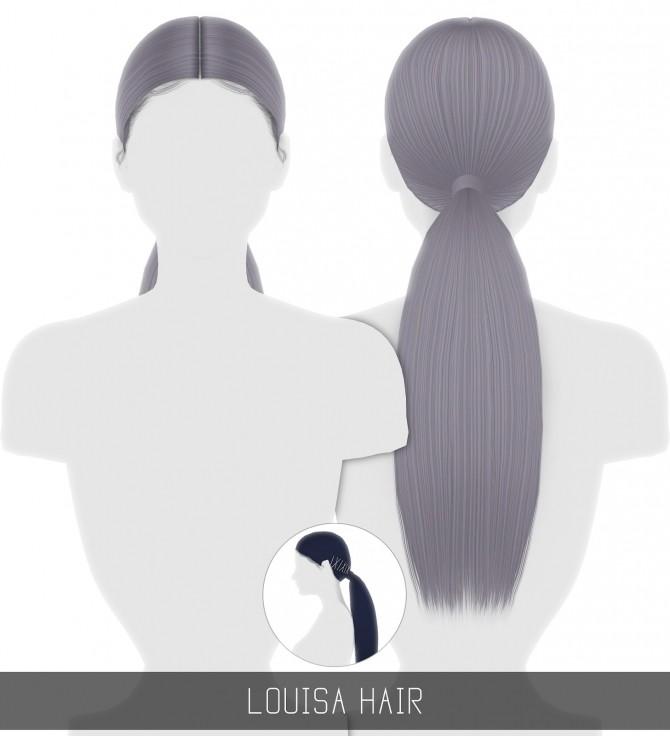 Sims 4 THERESA & LOUISA HAIRS at Simpliciaty