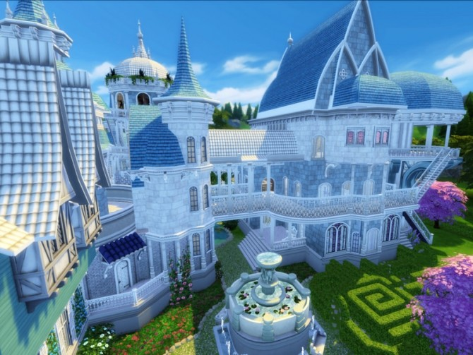 Sims 4 Elven Castle by VirtualFairytales at TSR