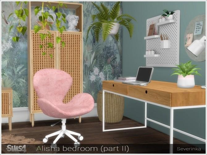 Sims 4 Alisha bedroom part II by Severinka at TSR