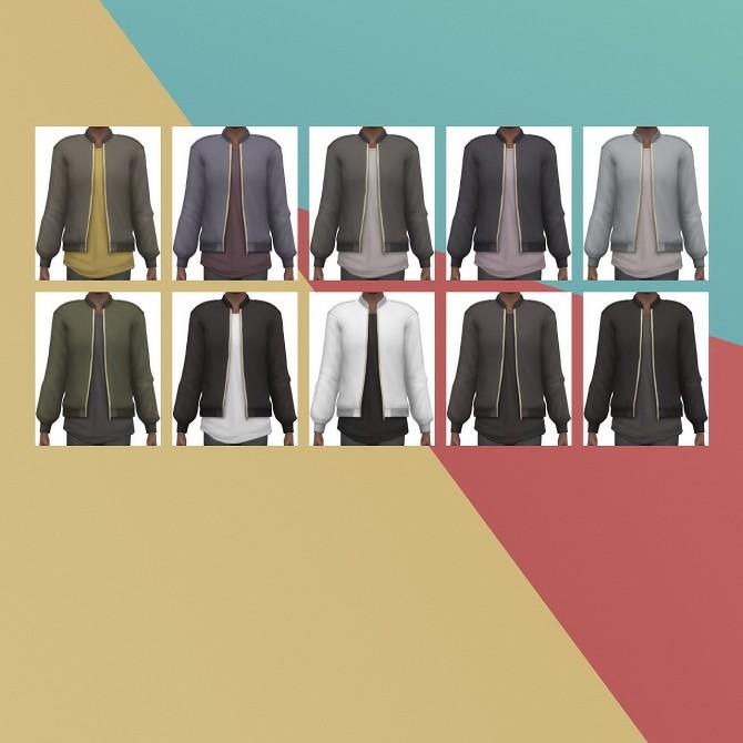 Designer Bomber Jacket Edit at Busted Pixels image 14415 670x670 Sims 4 Updates