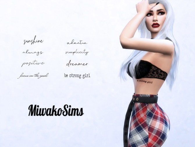 Collection #10 tattoos at MiwakoSims image 1454 670x507 Sims 4 Updates