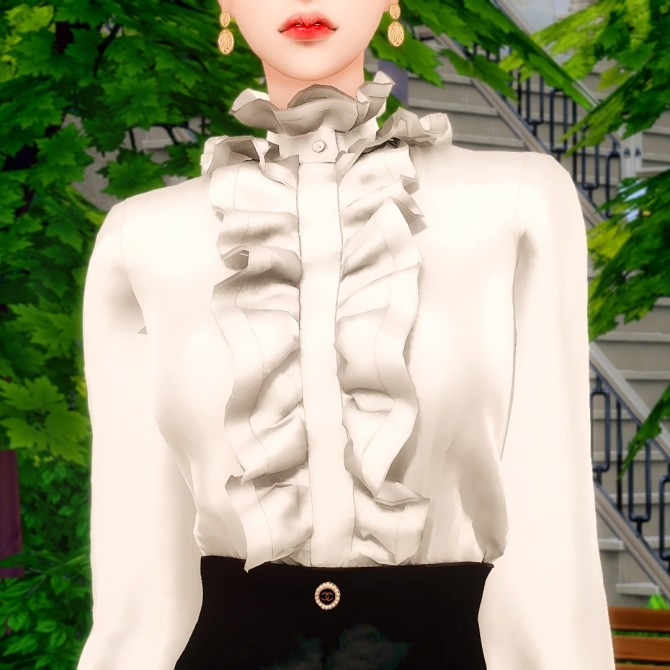 Frill Blouse & A Line Skirt at RIMINGs image 14619 670x670 Sims 4 Updates