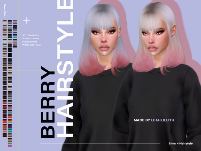 Sims 4 Berry Hairstyle by LeahLillith at TSR