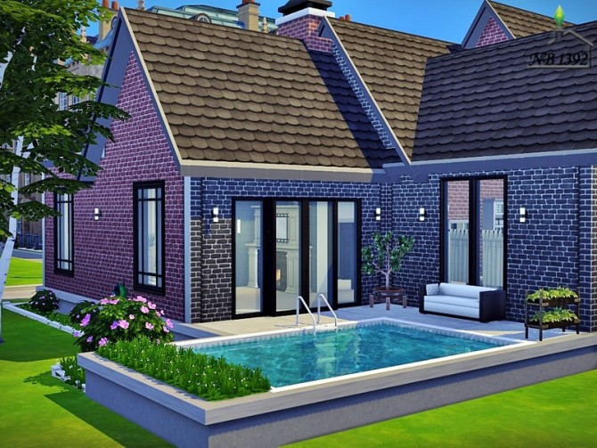 Sims 4 Mon Asile cozy family house by nobody1392 at TSR