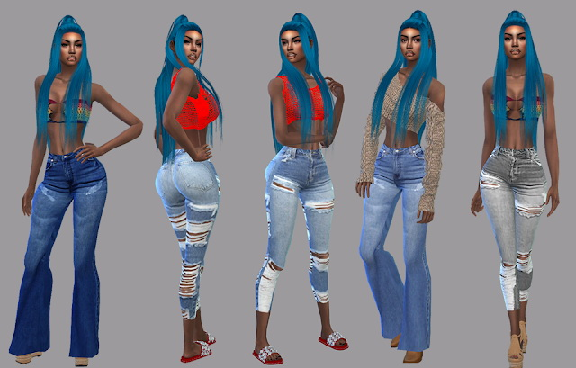 For the Summer Jeans Pack at Teenageeaglerunner image 14812 Sims 4 Updates