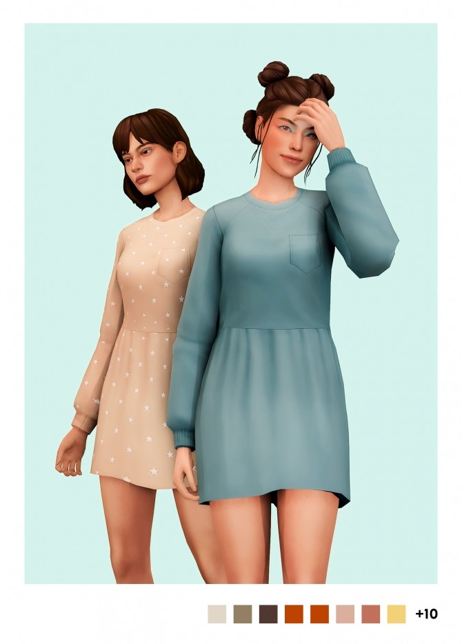 Sims 4 Soft sweater dress at Sulsulhun