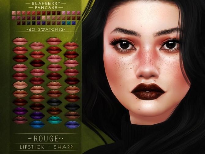 Sharp & Smooth Rouge lipsticks at Blahberry Pancake image 1496 670x503 Sims 4 Updates