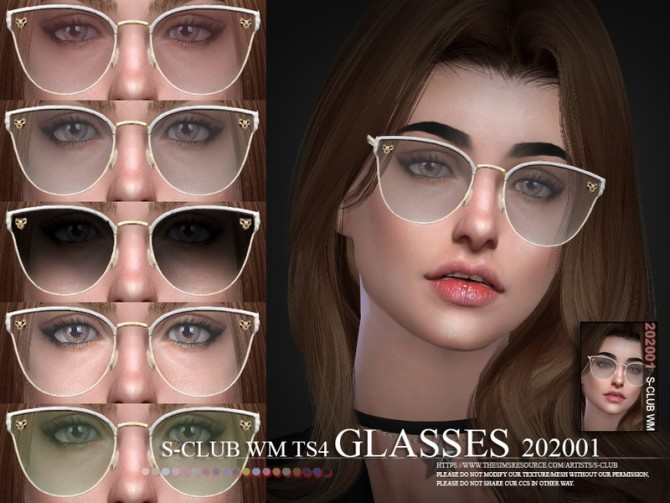 Glasses 202001 by S Club WM at TSR image 1497 670x503 Sims 4 Updates