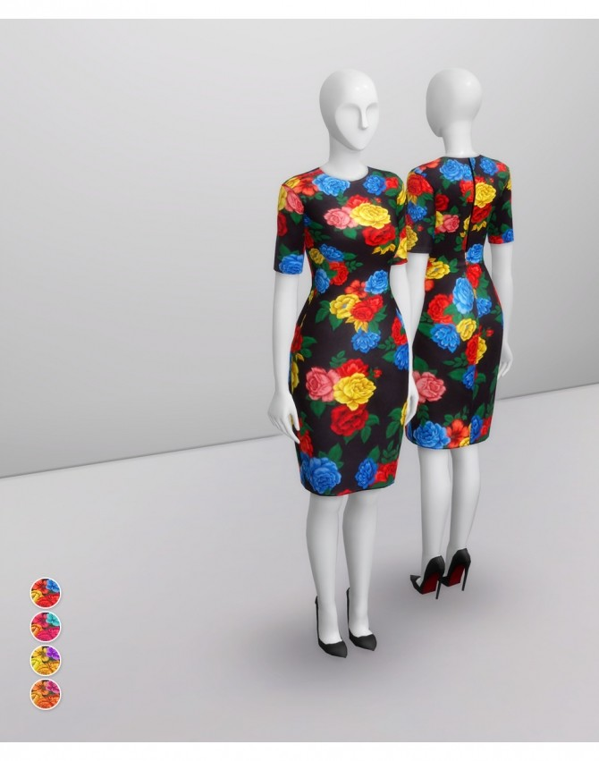 Colorful Floral Dress at Rusty Nail image 15011 670x851 Sims 4 Updates
