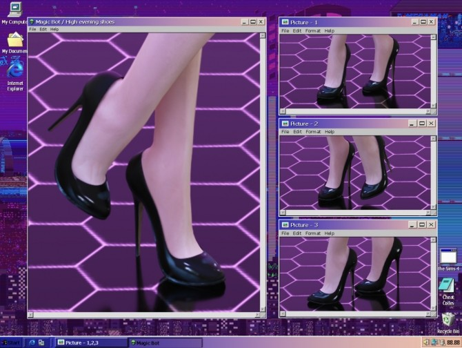 Sims 4 HIGH EVENING SHOES at Magic bot