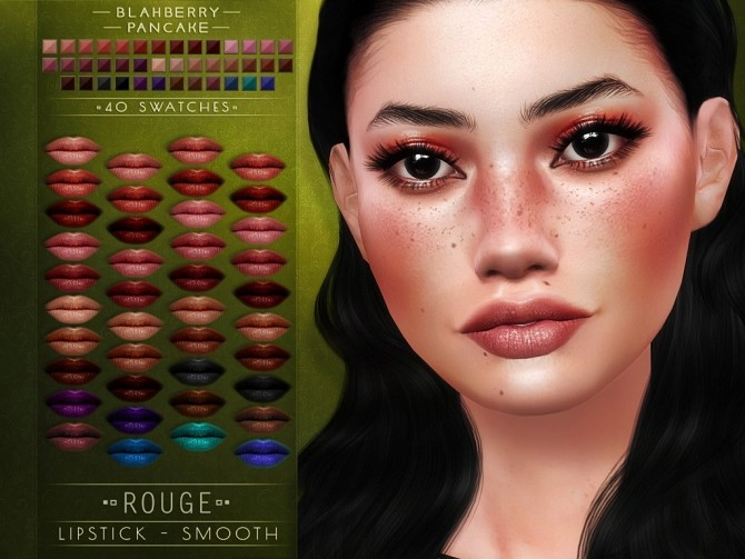 Sims 4 Sharp & Smooth Rouge lipsticks at Blahberry Pancake
