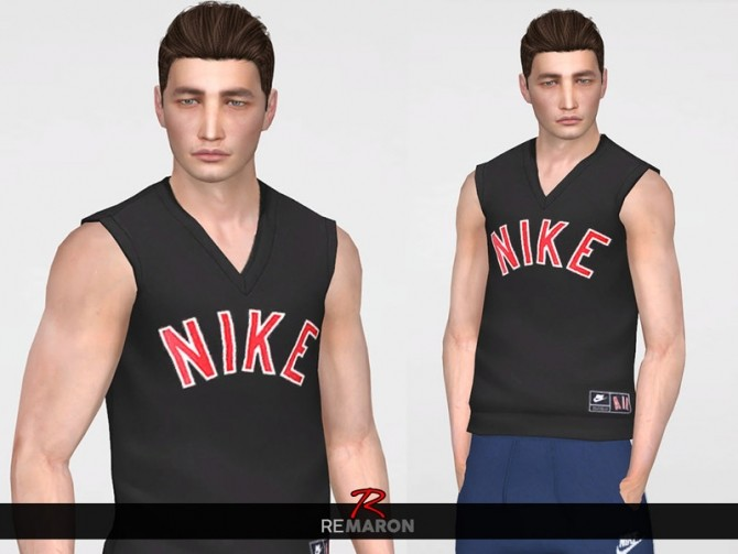 Sims 4 N. Tank Top for men by remaron at TSR