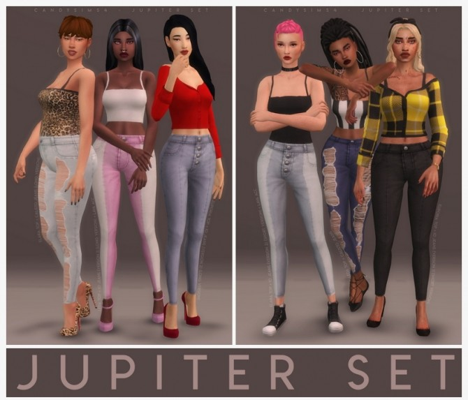 JUPITER SET:  3 tops, 3 pants and a duotone acc. at Candy Sims 4 image 15112 670x573 Sims 4 Updates