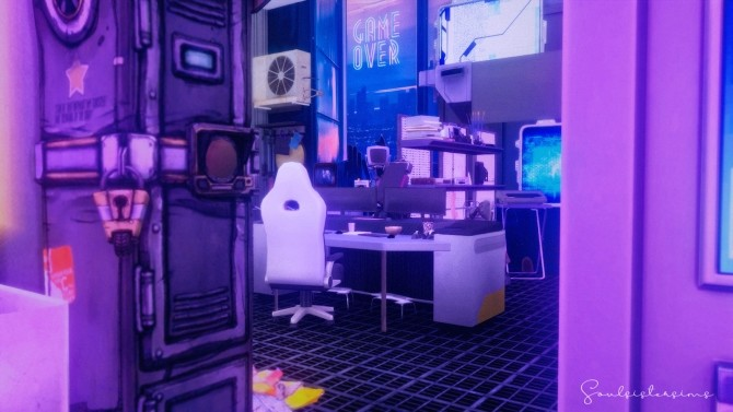 117 | CYBERPUNK APARTMENT at SoulSisterSims image 15117 670x377 Sims 4 Updates