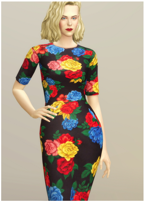 Colorful Floral Dress at Rusty Nail image 15215 Sims 4 Updates