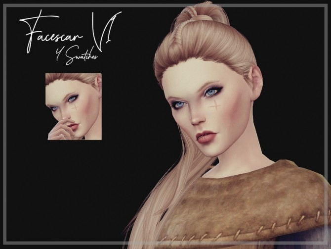 Facescar V1 by Reevaly at TSR image 1526 670x503 Sims 4 Updates
