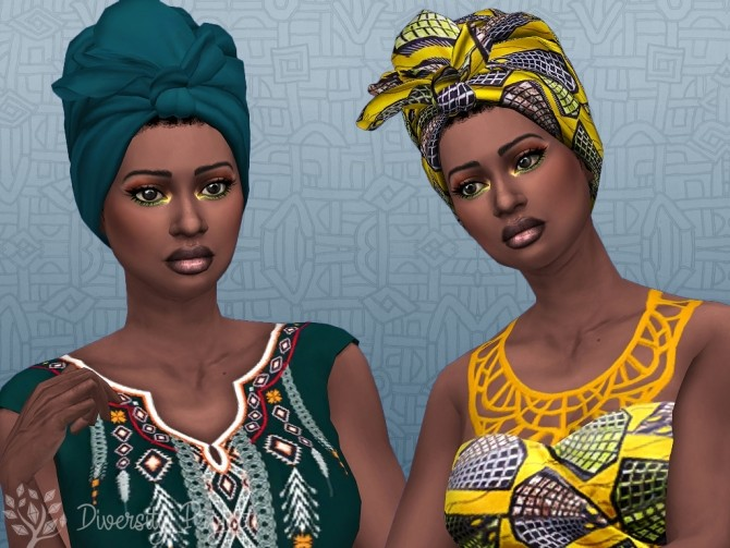 Sims 4 African Headwrap at Sims 4 Diversity Project