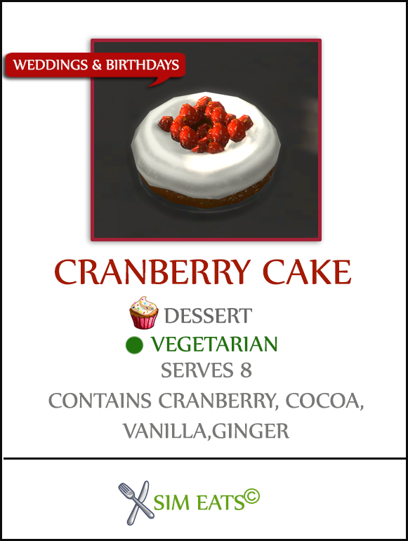 Sims 4 CRANBERRY CAKE at Icemunmun