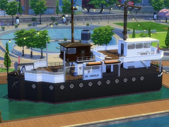 DS Harald Hurtigruten ship at KyriaT's Sims 4 World image 15317 670x502 Sims 4 Updates