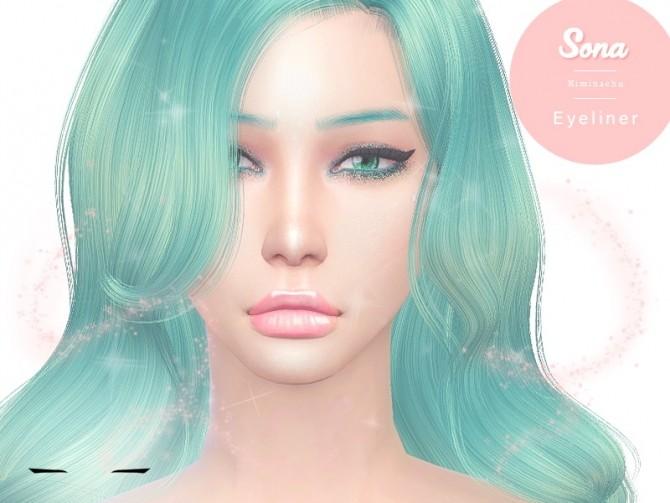 Sims 4 Sona Eyeliner at Kiminachu CC