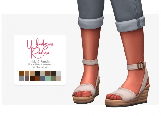 Redux wedges at Nolan Sims image 1536 670x482 Sims 4 Updates