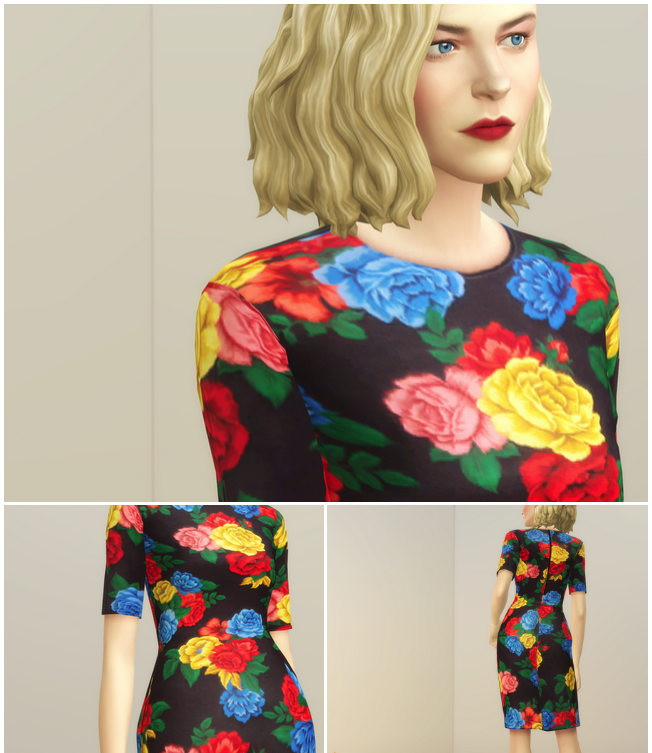 Colorful Floral Dress at Rusty Nail image 15412 Sims 4 Updates
