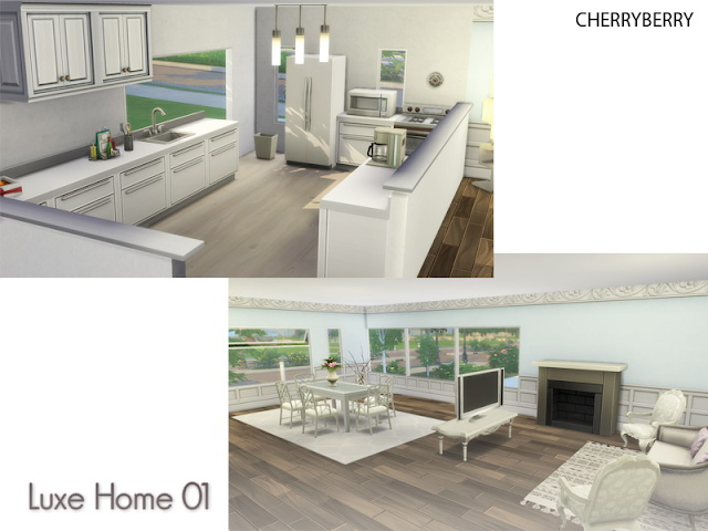 Sims 4 Luxe Home 01 at Cherryberry