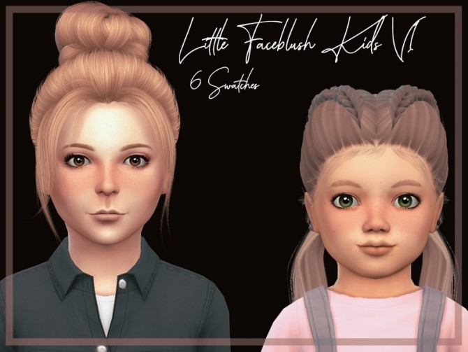 Sims 4 Little Faceblush Kids V1 by Reevaly at TSR