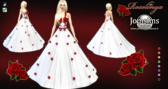 Sims 4 Roselinya dress at Jomsims Creations