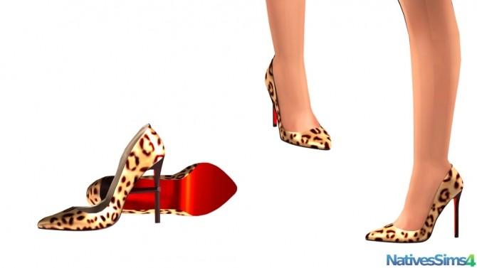 Sims 4 Glossy Leopard Print Pumps at Natives Sims 4