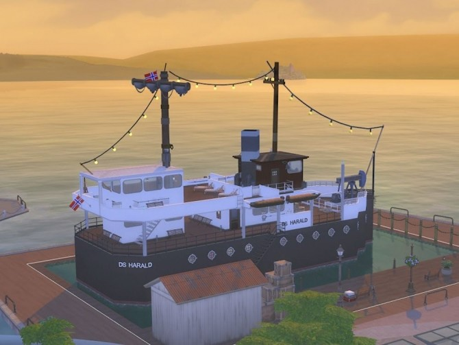 DS Harald Hurtigruten ship at KyriaT's Sims 4 World image 15516 670x503 Sims 4 Updates