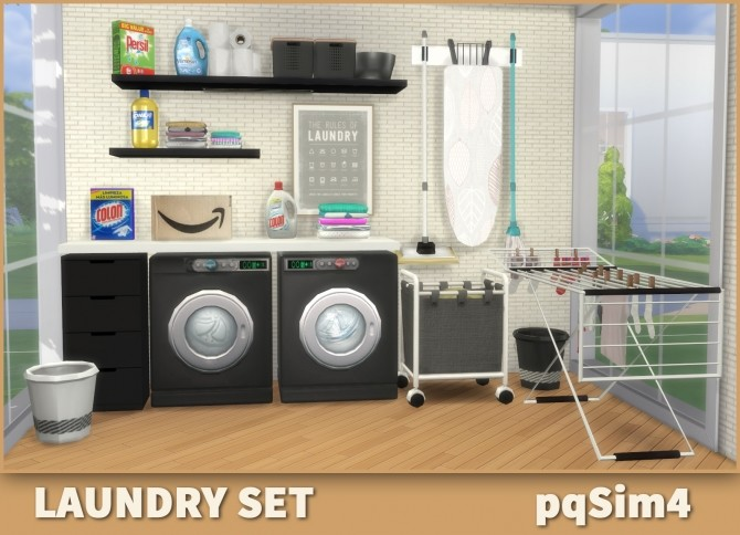 Laundry Set at pqSims4 image 1589 670x484 Sims 4 Updates