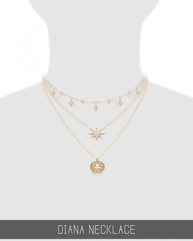 Sims 4 DIANA NECKLACE at Simpliciaty