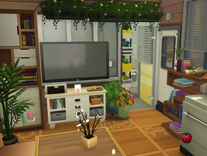 Sims 4 Olive tiny home by melapples at TSR