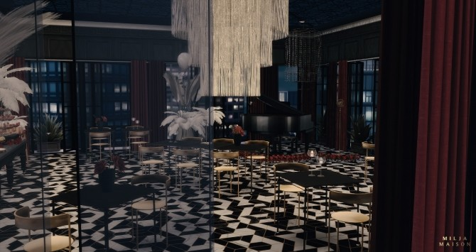 Sims 4 The Great Gatsby Nightclub at Milja Maison